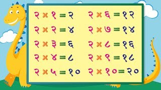 Table of 2 in Marathi | Don चा पाढा | Multiplication Tables in Marathi | Pre School Learning Video