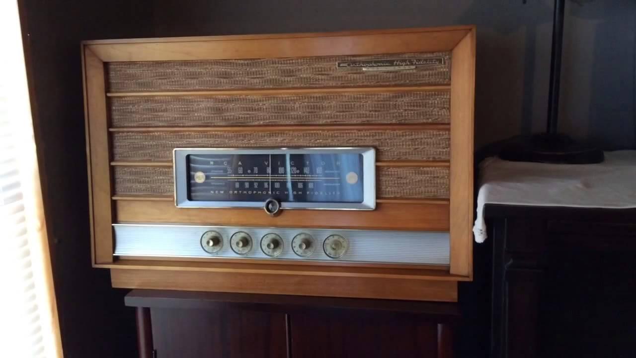 1957 Rca New Orthophonic High Fidelity Radio Youtube