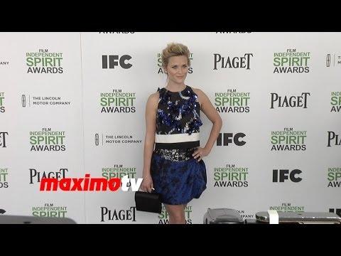 Reese Witherspoon Wears Sexy Giambattista Valli Dress 2014 Spirit Awards ARRIVALS