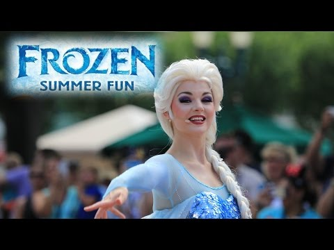 Frozen Royal Welcome First Day Preview Frozen Summer Fun Disney's Hollywood Studios Anna, Elsa, Olaf