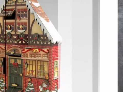 Christmas House Wooden Advent Calendar By Byers Choice Atopthetable You
