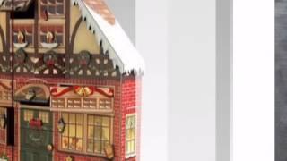 Christmas House Wooden Advent Calendar By Byers Choice - Atopthetable.com
