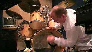 fitting a kickport to a bass drum