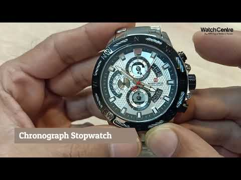 NaviForce 9165 Silver Chronograph Men's Wrist Watch Review
