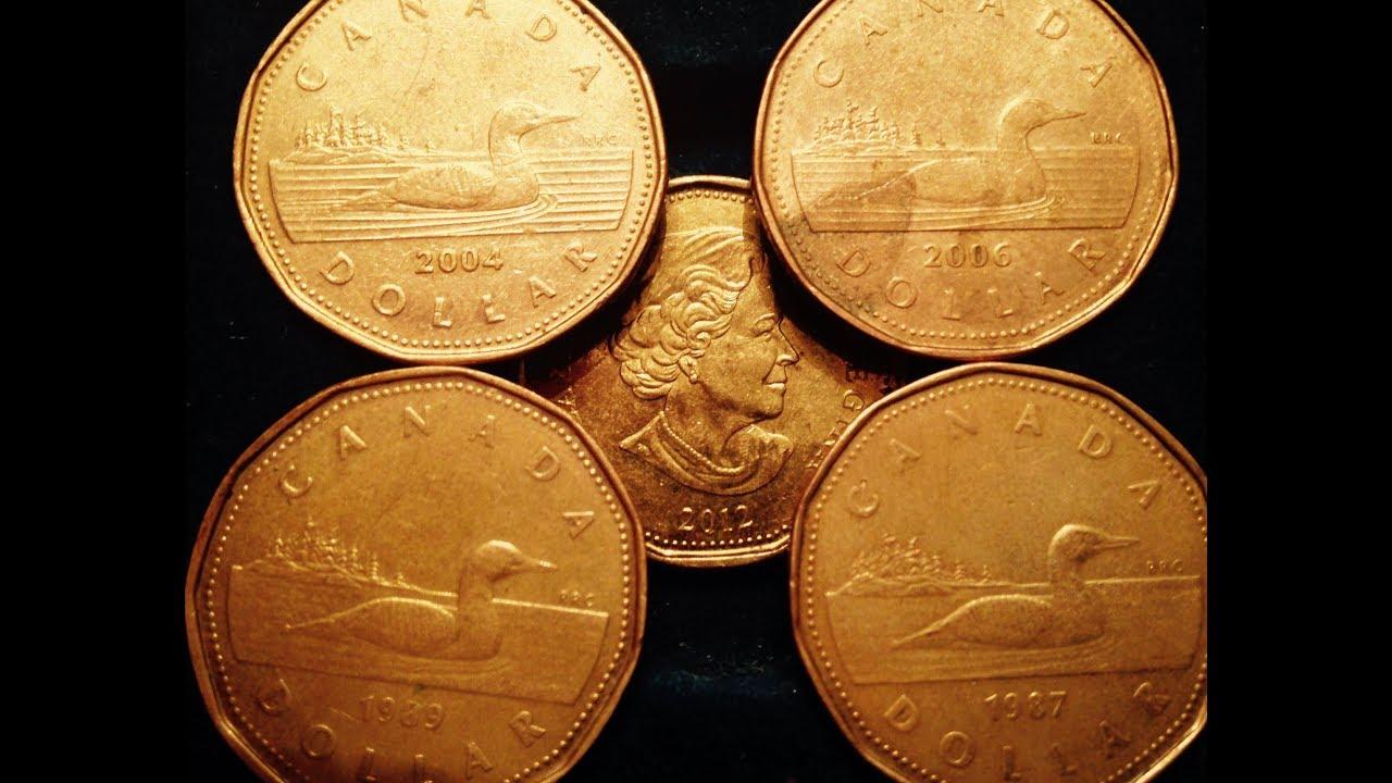 1987 2017 Canadian Dollar Coins