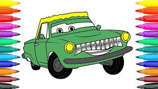 How To Coloring Cars Rusty Rust eze Coloring Pages How To Paint Rusty Rust eze Funny Coloring Book