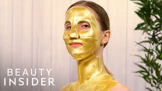 Face Masks Made With 14K Gold And Diamonds