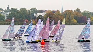 Impossible? Cool racing with no wind. Hamburg Championship 3x1 One Design Class