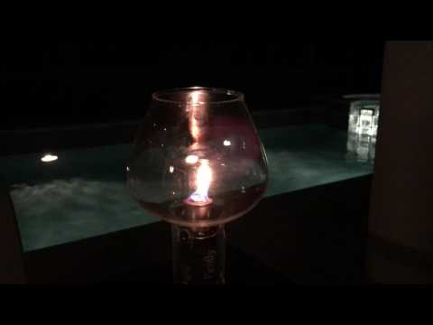 Wine Bottle Oil Lamp with Glass Flame Protector Globe