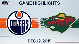 NHL Highlights | Oilers vs Wild - Dec. 12, 2019