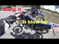 DIRT BIKE BLOWS UP IN 6TH GEAR PINNED