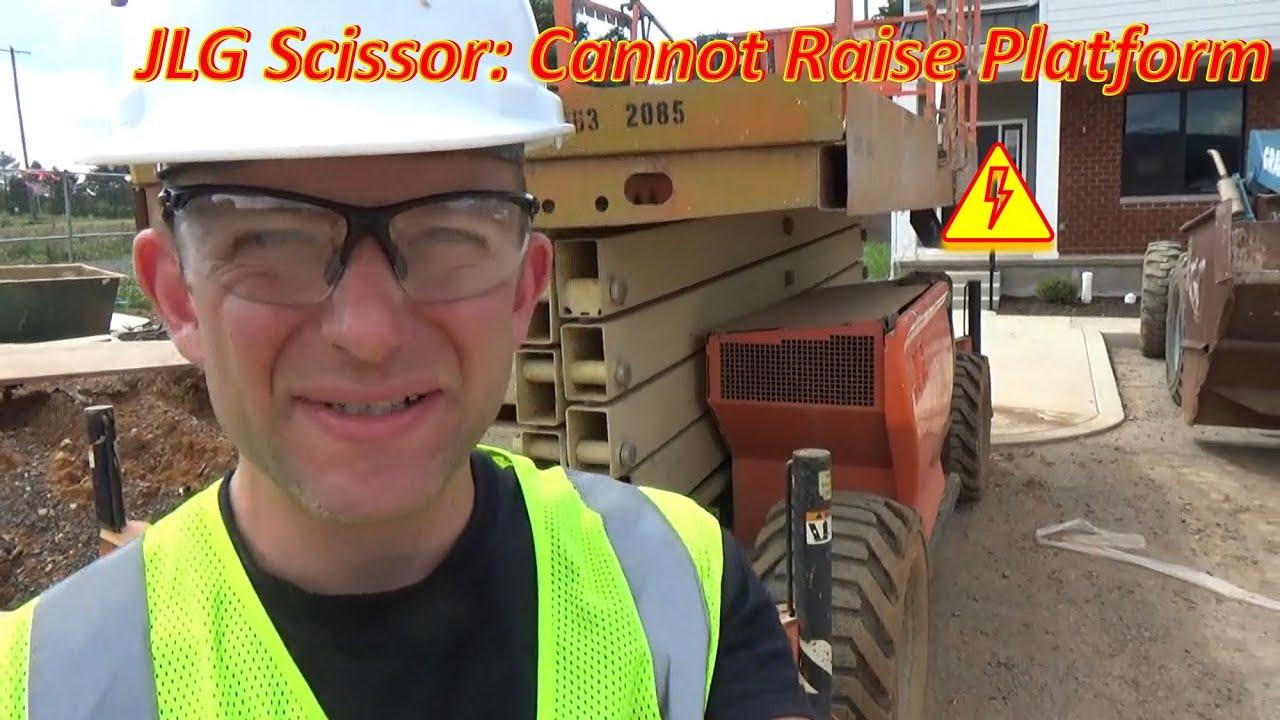 JLG Scissor Lift: Cannot Raise Platform