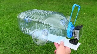 How To Make a Fish Trap with Plastic Bottle and Action Camera - Awesome Fishing Idea