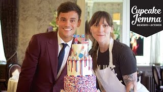 Behind The Scenes Making Tom Daley's Wedding Cake! | Cupcake Jemma