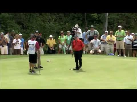 Jack Nicklaus - Unbelievable 102 Foot Putt ! video