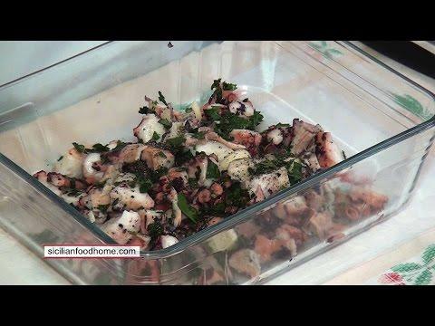 Салат из осьминога - RUS