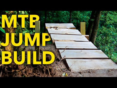 Building a GAP and TABLETOP jump on my Backyard Trail!