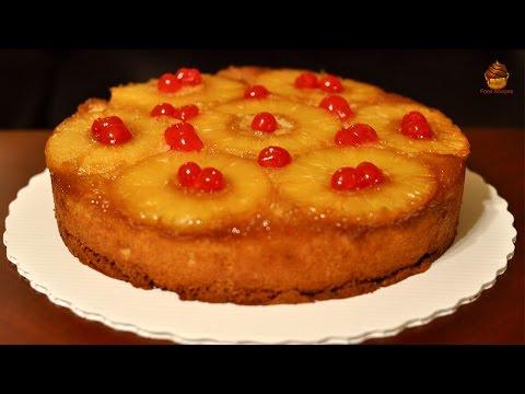 Pineapple Upside Down Cake Recipe | Upside Cake Recipe