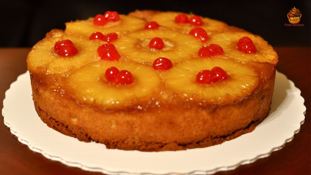 Cake Recipes In Otg Youtube: Pineapple Upside Down Cake Recipe