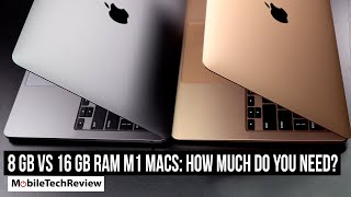 8GB vs 16GB RAM for M1 MacBook, How Much do You Need?