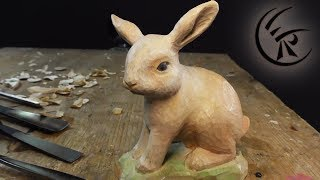 "Woodcarving ""Simple Rabbit"" ►► Timelapse"