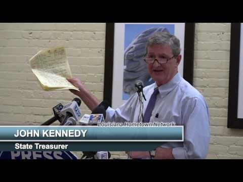 John Kennedy Speaks at Baton Rouge Press Club