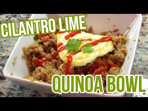 5 Minute Meal - Easy Cilantro Lime Quinoa Bowl Recipe