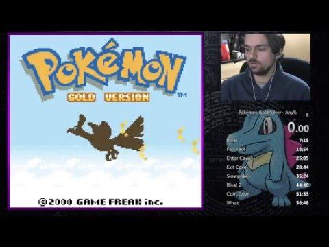 Pokémon Gold Any% Speedrun PB 54:01 RTA (2/2/16)