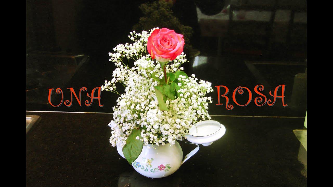 Como hacer arreglo floral con 1 sola rosa centro de mesa its youtube uninterrupted altavistaventures Image collections