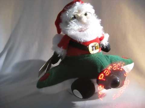 Animated Musical Plush Stuffed Air Santa Christmas Toy Decor Lights Up PBC