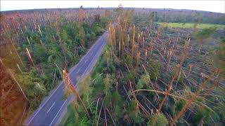 National Nature Disaster 2017 Rytel Poland Aerial Drone Footage