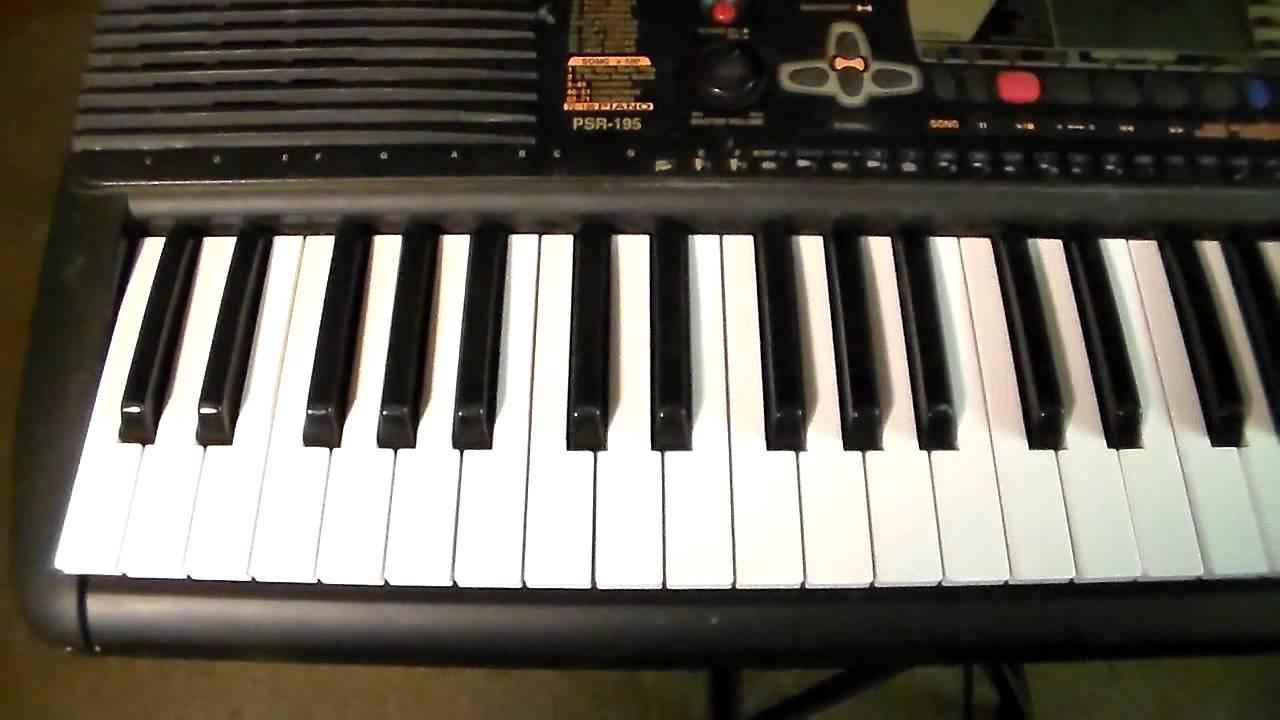 my yamaha psr 195 keyboard youtube rh youtube com yamaha psr 125 manual yamaha psr-195 manual