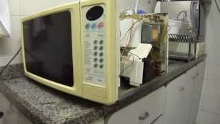 Forno Microondas Panasonic NN-6557BH - Não esquenta - Defeito fácil de resolver.