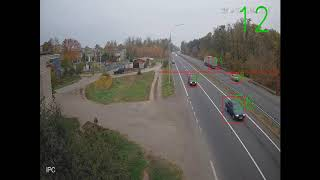 Нейронная сеть делает подсчет количества автомобилей на трассе