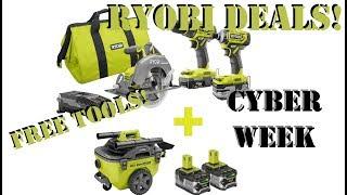 Ryobi Tools Cyber Monday & Online Deals 2018 Holiday!