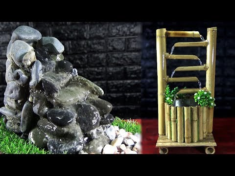 How to make a small outdoor water fountain
