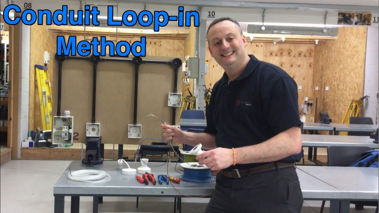 Conduit Loop In Method For Wiring Lighting Circuits Pvc Singles System