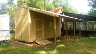 8x18 Gable Shed W/lean-to - Shed Plans - Stout Sheds Llc