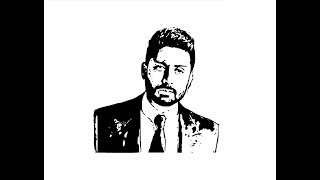 How to Draw Abhishek Bachchan face pencil drawing step by step