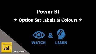 1. الخيار تعيين تسميات & الألوان - استخدام الطاقة BI لخلق نظرة عامة مرئية من العملاء