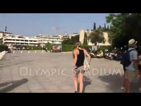 Olympic Stadium in Athens Greece in Hyperlapse