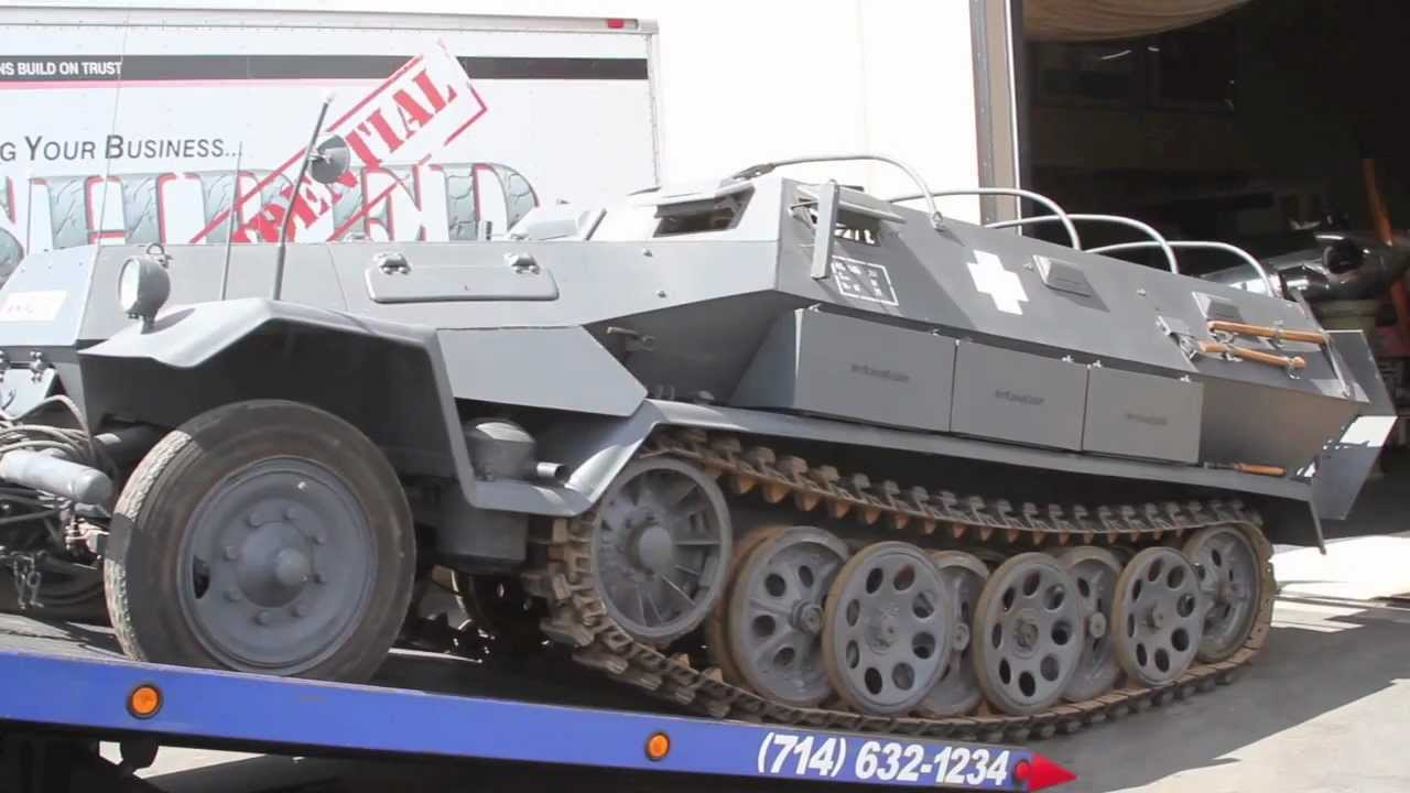 World War 2 German Hanomag Sd. Kfz. 251/6 Half-Track Being Delivered to New Home