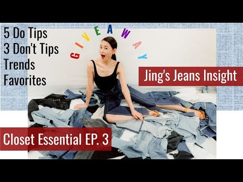 Jing's Jeans Collection | Trends & Favorite Jeans 2019 | Closet Essentials EP3 | Jing Leng