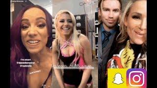 WWE Snapchat/Instagram ft Alexa Bliss, Tyler Breeze, Becky Lynch, Charlotte, Sasha Banks n MORE