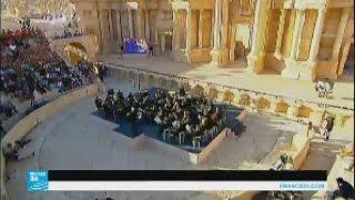 سوريا: أوركسترا مارينسكي الروسية تقيم حفلا في مسرح تدمر الأثري