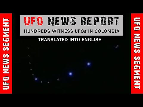 PRIMETIME UFO NEWS REPORT • Mass UFO Sighting • COLOMBIA