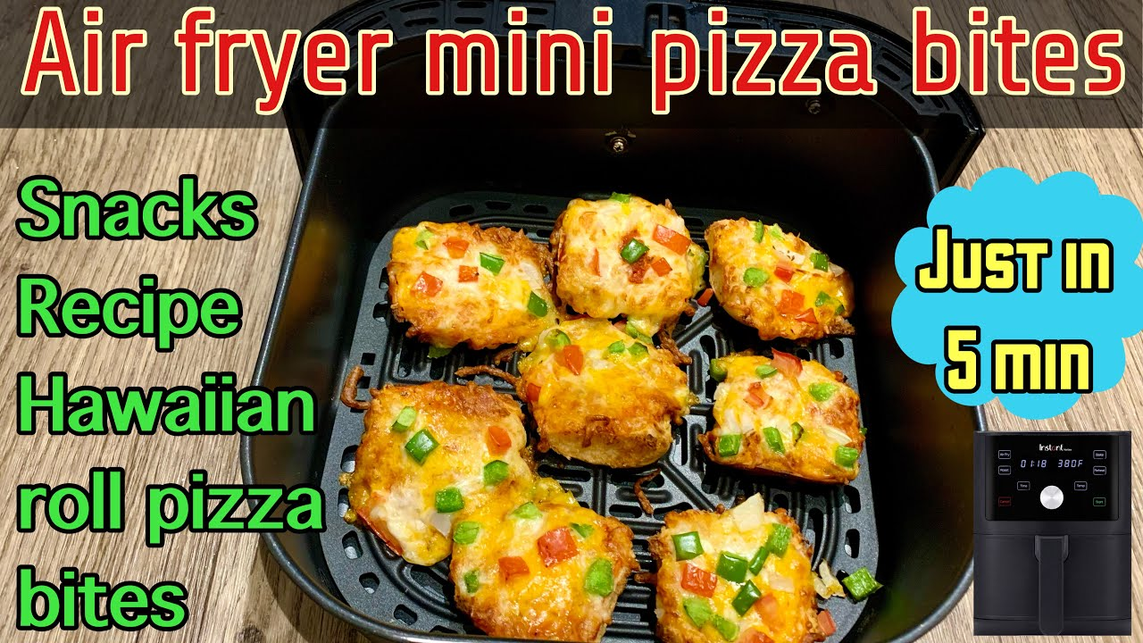 5 Minutes Snacks Recipe | Air Fryer Pizza Bites | How To Make Mini Pizza In Air Fryer | Roll Pizza |