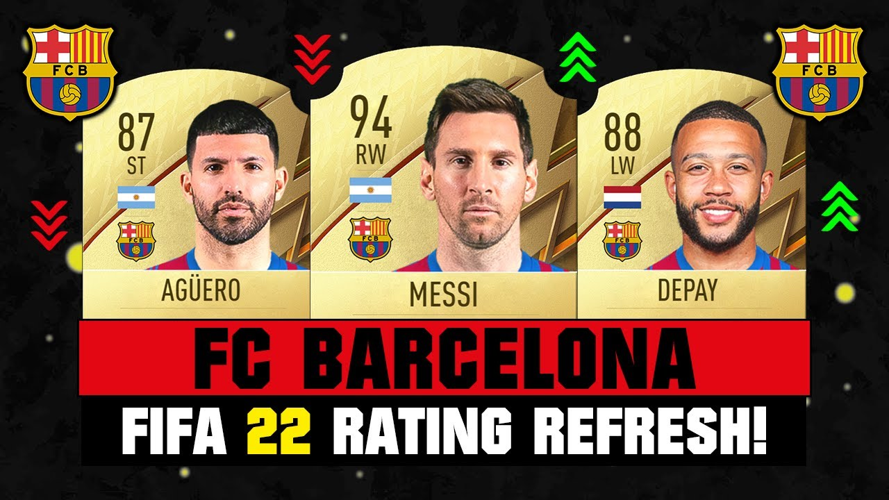 FIFA 22 | FC BARCELONA PLAYER RATINGS! 👀🔥 ft. Messi, Aguero, Depay…