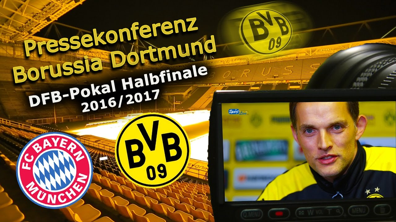 FC Bayern München - Borussia Dortmund: Pk mit Thomas Tuchel zum DFB-Pokal-Halbfinale
