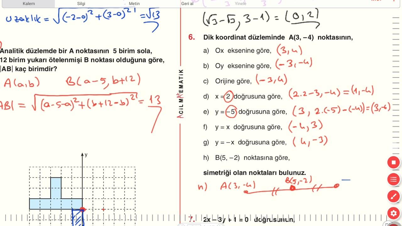 Donusum Geometrisi A1 Testi On Calisma Sorulari 1 Sayfa 319 320